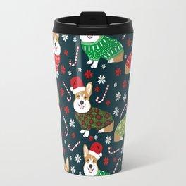 Corgi christmas sweater ugly sweater party with welsh corgis dog lovers dream christmas Travel Mug