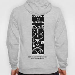 SETI Arecibo Message Radio Transmission Into Space in 1974 with Basic Information About Humanity Hoody