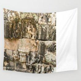 Mismatched Repairs, Bayon Temple, Angkor Thom, Cambodia Wall Tapestry