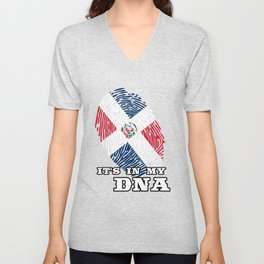 Dominican Republic - ItS In My Dna Unisex V-Neck
