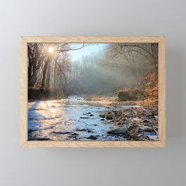 Solstice On Brush Creek 2 Framed Mini Art Print