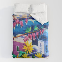Santorini churches Comforters