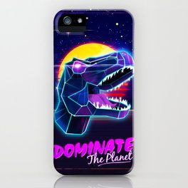 Electric Jurassic Rex - Dominate the Planet iPhone Case