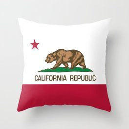 California Republic Flag - Bear Flag Throw Pillow