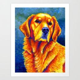 Faithful Friend - Colorful Golden Retriever Art Print
