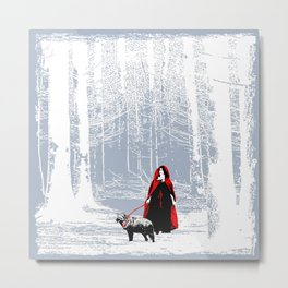 red riding hood's pet Metal Print