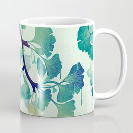O Ginkgo (in Green) Coffee Mug
