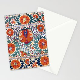 Shakhrisyabz Suzani Uzbekistan Antique Rug Stationery Cards