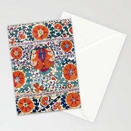 Shakhrisyabz Suzani Uzbekistan Antique Embroidery Print Stationery Cards