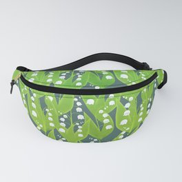 Lily of the Valley Pattern Fanny Pack