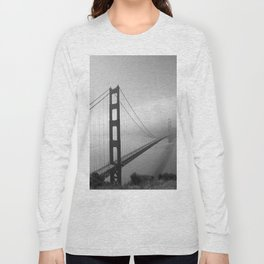 The Golden Gate Bridge In A Mist Long Sleeve T-shirt