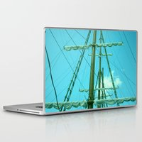 sailboat Laptop & iPad Skins featuring sailboat by Vickn
