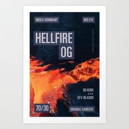 HELLFIRE OG Art Print