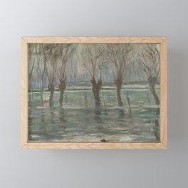 Flood Waters by Claude Monet Framed Mini Art Print