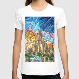Asgard stained glass style T-shirt