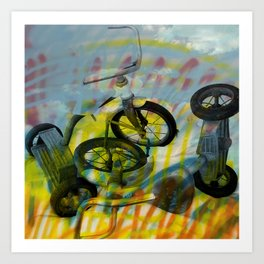 BUFFALO FACTORY  Tricycles Art Print