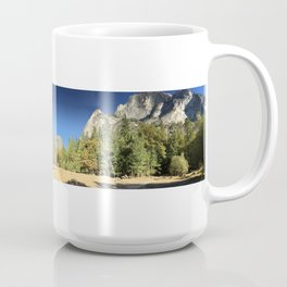 Panoramic Mirror Lake in Yosemite Valley National Park Coffee Mug