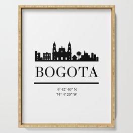 BOGOTA COLOMBIA BLACK SILHOUETTE SKYLINE ART Serving Tray