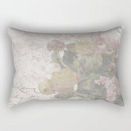 Floral Vintage Postcard bouquet of flowers Rectangular Pillow
