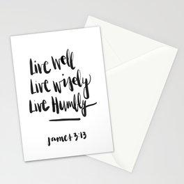 James 3:13 Stationery Cards