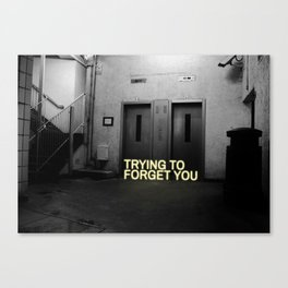 trying to forget you Canvas Print