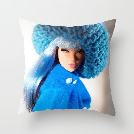 Modular Hues Throw Pillow