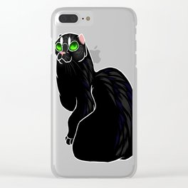 Cat-No-Ears Clear iPhone Case