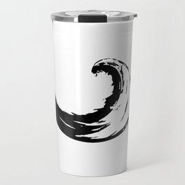 Peace Wave in Enso Circle - Buddhist Zen Calligraphy Shirt Travel Mug