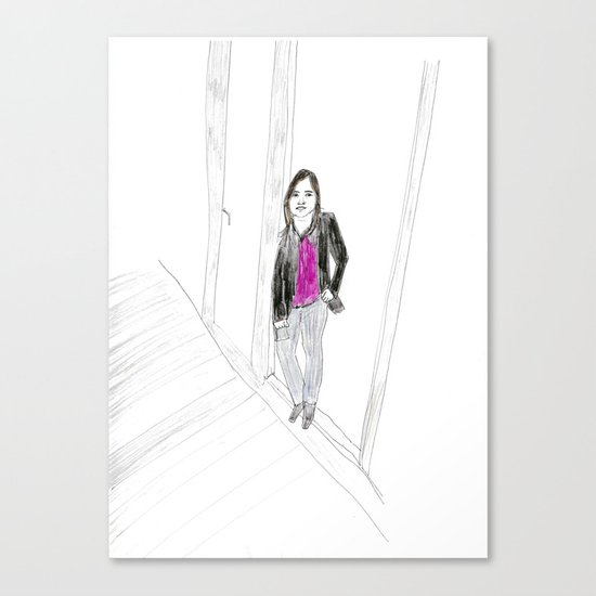 Biro Portrait of a Londoner Canvas Print