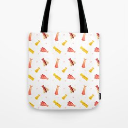 Paper Doll Pattern Tote Bag