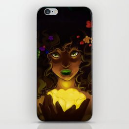Curly and floral iPhone Skin