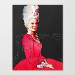 Kirsten Dunst as Marie Antoinette Canvas Print