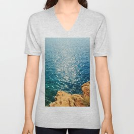 At The Edge Of The Sea Unisex V-Neck