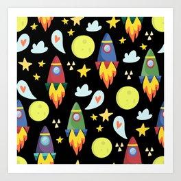 Rocket Ships Art Print