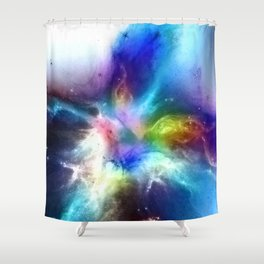 θ Atlas Shower Curtain