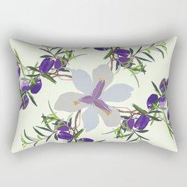2941 AppleBerry-Iris.P1.Green Ice Rectangular Pillow