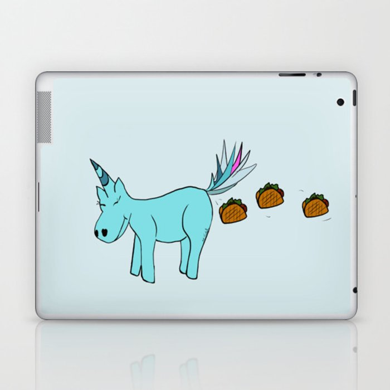 Unicorn Pooping Tacos Laptop & iPad Skin
