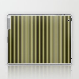 Large French Khaki Mattress Ticking Black Double Stripes Laptop & iPad Skin