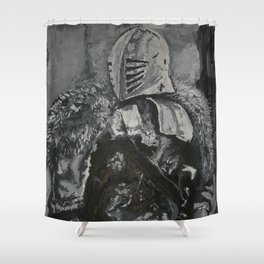 Winter Knight Shower Curtain