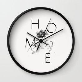 H O M E Wall Clock