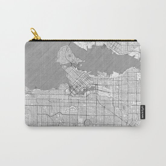 Vancouver Map Line Carry-All Pouch