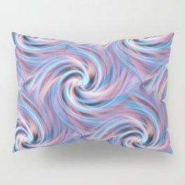 Blue Pink Swirl Pillow Sham