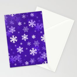 Light Purple Snowflakes Stationery Cards