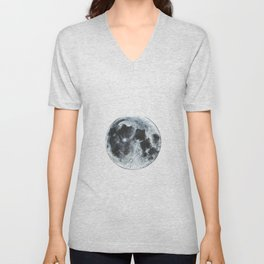 Full Moon Painting Unisex V-Neck