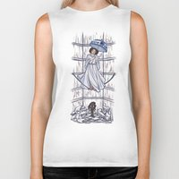 mortal instruments Biker Tanks featuring Leia's Corruptible Mortal State by Karen Hallion Illustrations