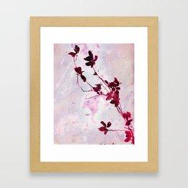 Botanical Traces in Pink Framed Art Print