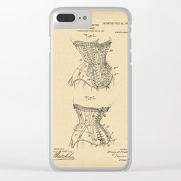 1908 Patent Corset Clear iPhone Case