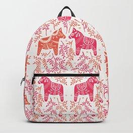 Swedish Dala Horses – Melon Palette Backpack