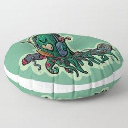 cucumber rookie player Floor Pillow