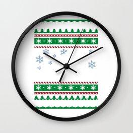 Ugly Christmas Trees Snowflakes Truck Wall Clock